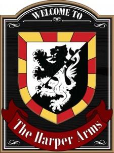 Harper Arms Pub Sign